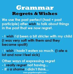 English - regrets and wishes