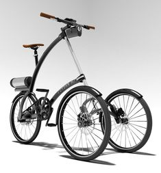 UrbanM Electric Bike, created by Jose Barrientos. is a foldable light vehicle with 3 wheels that can be propelled by pedal and electricity. Velo Design, Bicycle Design, Design Art, E Bike Battery, Best Electric Bikes, Electric Tricycle, Custom Trikes, Reverse Trike, Cargo Bike