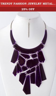 TRENDY FASHION JEWELRY METAL STATEMENT LINK NECKLACE BY FASHION DESTINATION | (Purple). Fashion Destination Presents : METAL STATEMENT LINK NECKLACE. Buy brand-name Fashion Jewelry for everyday discount prices with Fashion Destination! Everyday LOW shipping *. Read product reviews on Fashion Necklaces, Fashion Bracelets, Fashion Earrings & more. Shop the Fashion Destination store for a wide selection of rings, bracelets, necklaces, earrings and diamond jewelry. Whether you are searching…