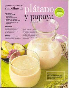 Smoothie d platano y papaya Healthy Juices, Healthy Smoothies, Healthy Drinks, Healthy Cooking, Healthy Tips, Healthy Snacks, Healthy Recipes, Simple Smoothies, Juice Smoothie