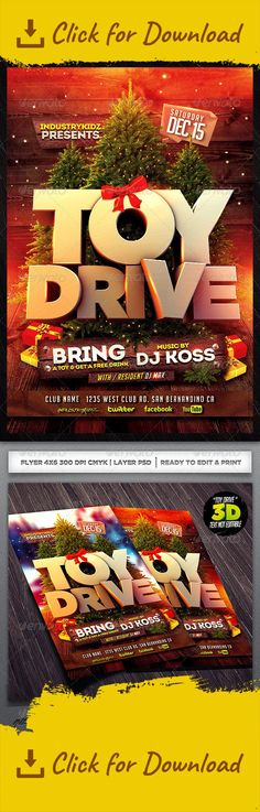 Toy Drive Charity Flyer Template Flyer Template Template And Toy