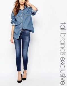 Noisy May Tall Extreme Lucy Super Slim Jean – Blue