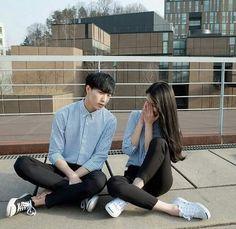 รูปภาพจาก We Heart It #asian #couple #exo #fashion #korean #kpop #lay #outfit #southkorea #ulzzang #cute