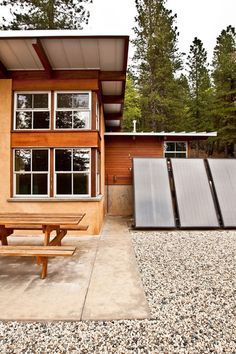 Let's clear up some confusion about solar panels - rustic exterior by Arkin Tilt Architects