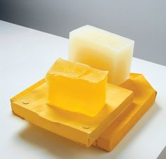 "desimonewayland: "" Rachel Whiteread YELLOW EDGE, 2007–08 - Plaster, pigment and resin (four units) Gagosian Gallery """