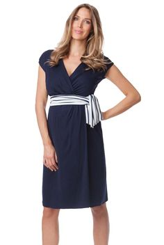 Seraphine Taylor Nautical Tie Wrap Maternity Dress | Designer Maternity  www.duematernity.com Follow Due Maternity on Instagram www.instagram.com... BEST selection of Maternity clothes anywhere!
