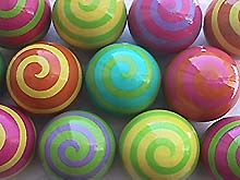 """Really Cool Spiral Cabinet Knobs $16 each for 1"""" handpainted"""