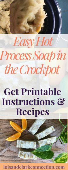 Hot Process Soap is ready to use right away, no curing time necessary! Easy to make in your crockpot! Get Printable instructions and recipes to make your own soap that won't dry out your skin! Recipes make shampoo or bath bars. Soap Making Kits, Soap Making Supplies, Homemade Laundry Detergent, Homemade Shampoo, Homemade Conditioner, Crockpot, Coconut Soap, Coffee Soap, Homemade Soap Recipes
