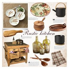 """""""Rustic kitchen"""" by bogira ❤ liked on Polyvore"""