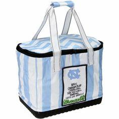 North Carolina Tar Heels (UNC) Team Motto Striped Cooler Tote
