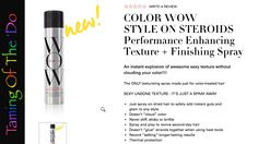 Color Wow Style On Steroids Texture and Finishing Spray