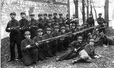 Lublin Betar team during field exercises. February 1933