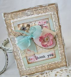 scrapbooking #card #shabby