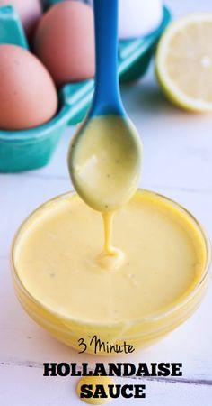 3 Minute Hollandaise Sauce -  www.savorylotus.com