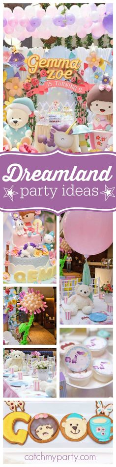 Nod off to dreamland with this fabulous birthday party! The birthday cake is a work of art!! Absolutely stunning! See more party ideas and share yours at CatchMyParty.com
