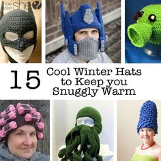 Well you might be feeling cold but you will feel totally cool when you rock out these Winter hats. Some of these are perfect for Halloween Dress up too. I have to say the Curlers one is my favourit…