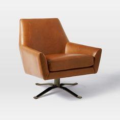 Lucas Leather Swivel Base Chair