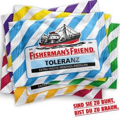 MAKING A STATEMENT WITH FOOD. In August 2015, Fisherman's Friend has launched a limited edition of mints in attempt to raise awareness of racial hate and intolerance towards ethnic and religious minorities in Germany. #colourfulfood #rainbowfood #statement #lgbt