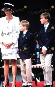 August 19, 1995: Princess Diana, Prince Harry, Prince William & Prince Charles attend the commemoration of VJ Day in London. Photo by Dave Chancellor-alpha-Globe Photos ,Inc. 08-19-