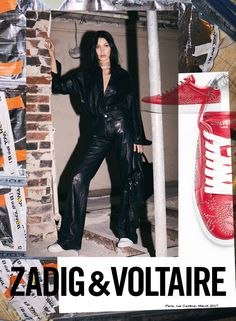 #ZadigFW17 - Always chic with the perfect amount of edge. New season, same muse @bellahadid. In style and attitude, Bella is Zadig #zadigetvoltaire #paris #bellahadid