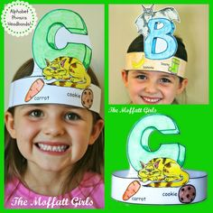 Alphabet Phonics Headbands!  Kids get to color and wear an alphabet headband!  Helps teach beginning sounds in a FUN way:)