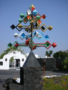 Wind sculpture by Cesar Manrique, Cesar Manrique Foundation (prev CM home)… Wind Sculptures, Sculpture Art, Cool Places To Visit, Great Places, Kinetic Art, Paradise On Earth, Spanish Artists, Canary Islands, Street Art