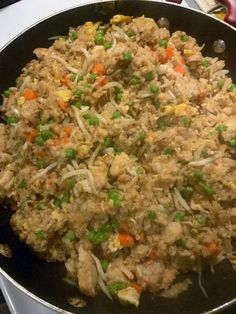Chinese Chicken Fried Rice - Susan Recipes Homemade Chicken Fried Rice, Shrimp Fried Rice, Fried Chicken, Roast Chicken, Restaurant Style Fried Rice Recipe, Homemade Chinese Food, Susan Recipe, Asian Recipes, Ethnic Recipes
