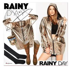 """Rainy Day Style"" by paculi ❤ liked on Polyvore featuring Kate Spade, Burberry, rainydaystyle and nastydress"