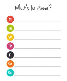 What's For Dinner Meal Planner Free Printable Download