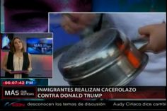 Inmigrantes Realizan Cacerolazo Contra Donald Trump
