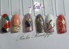 Diseños para uñas con Foil - art nail-Paola Reccioppe