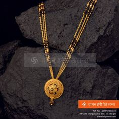 Elegantly crafted Mangalsutra a symbol of love and commitment. Indian Wedding Jewelry, Bridal Jewelry, Beaded Jewelry, Indian Jewelry, Indian Bridal, Gold Bangles Design, Gold Earrings Designs, Gold Jewellery Design, Gold Jewelry Simple