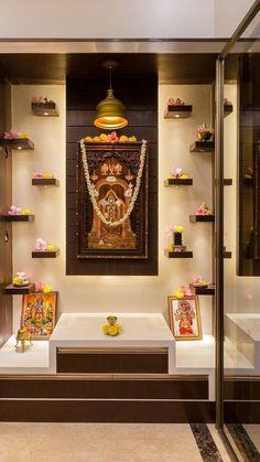 Pooja Room Door Design, Apartment Interior Design, Home Room Design, Interior Design Kitchen, Living Room Partition Design, Room Partition Designs, Temple Design For Home, Wooden Temple For Home, Temple Room
