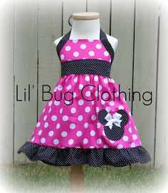 Custom Boutique Clothing Hot Pink and Black  by LilBugsClothing, $39.99