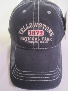 Yellowstone National Park Ball Cap Since 1872 Strap Back Embroidered Adult Hat #nationalparks #yellowstone