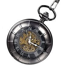 Mudder Special Magnifying Glass Cover Black Mechanical Vintage Pocket Watch Pendant Watch, Pocket Watch Antique, Magnifying Glass, Clocks, Bird, Watches, Antiques, Cover, Ebay