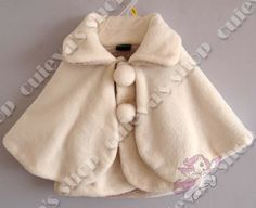 4pcs/lot (1-2T) Sweet Infant Baby Girls Winter Shawl Children Poncho Beige Fake Two Pieces Thick Warn magic tape Free Shipping $54,50