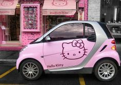 Hello Kitty smart car!