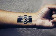 509e786f73825 Camera Tattoo Ideas For Men 80 Camera Tattoo Designs For Men - Photography  Ink Ideas