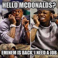 Hahahahahhaha Eu preciso de um emprego também LIl Wayne. Hahahha socorro!!!