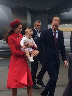 The Cambridges touch down in New Zealand 2014