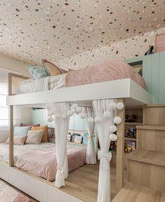 Cute Bedroom Decor, Bedroom Decor For Teen Girls, Cute Bedroom Ideas, Stylish Bedroom, Awesome Bedrooms, Teen Girl Bedding, Modern Kids Bedroom, Teen Bedrooms, Kids Bedroom Designs