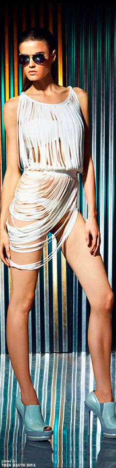 Where's the pool boy.....sexy swim suits.....Herve Leger by Max Azria Resort 2014