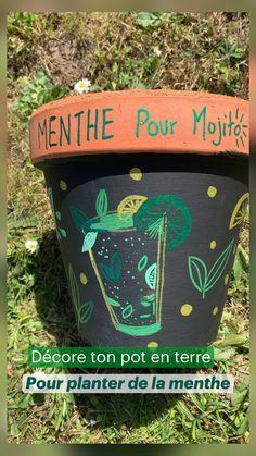 Container Plants, Container Gardening, Planter Menthe, Love Garden, Miniature Fairy Gardens, Creative Decor, Diy Hacks, Mojito, Permaculture