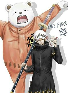 Trafalgar D. Water Law and Bepo One piece Sanji One Piece, Anime One Piece, One Piece Fanart, One Piece World, One Piece 1, Zoro Roronoa, Akuma No Mi, Manga Anime, One Piece English Sub