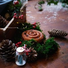 Home Recipes, Cinnamon Rolls, Table Decorations, Christmas, House, Home Decor, Xmas, Decoration Home, Home