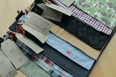 Something Cool We Saw Online: Shoe Bags. Make out of old men's shirts and you've recycled.:)