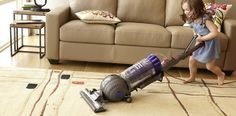spring cleaning is for everyone – dyson animal vacuum and possibilities leather sofa