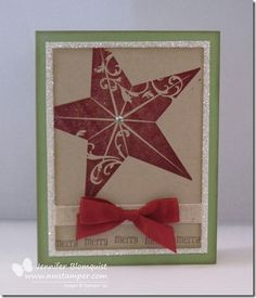 www.nwstamper.com - Getting Creative with the Christmas Star Stamp