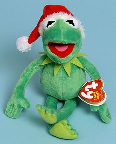 Kermit - frog - Ty Beanie Babies - must have! Ty Animals f0462a04463a